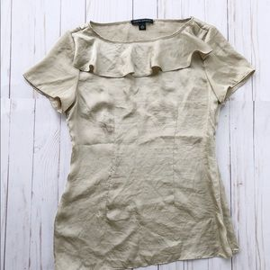 Banana Republic short sleeve ruffle blouse size 0